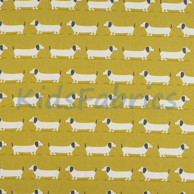 Hound Dog - Ochre - £13.95 per metre