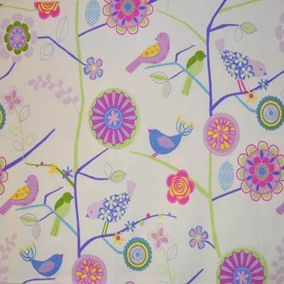 Wallpaper lapwing lavender kids curtain fabric for for Kids drapery fabric