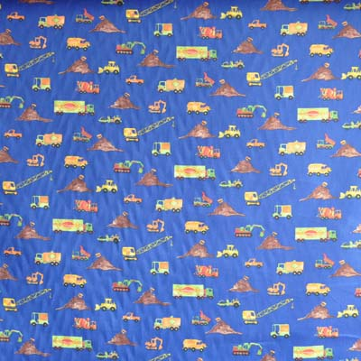 Little digger - blue - £6.95 per metre