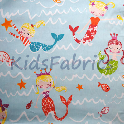 Mermaid - Aqua - £13.50 Per Metre