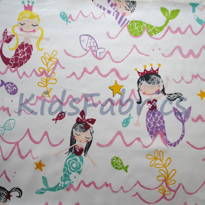 Mermaid - Pretty Pink - £11.50 Per Metre