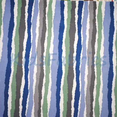 Midgy Stripe - Blue - £13.50 Per Metre