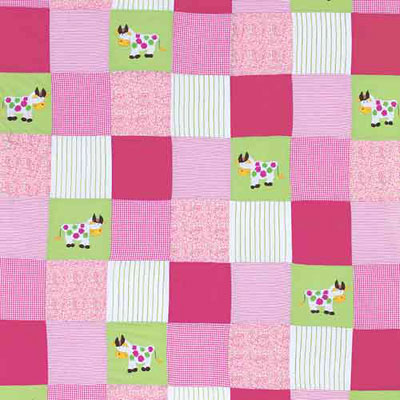 Remnant 1124: Cows on Patchwork [0.55 metre] - £8.80 Item price
