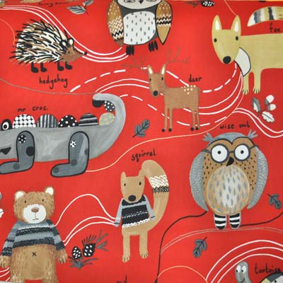 Nature Trail - Red - £11.95 per metre