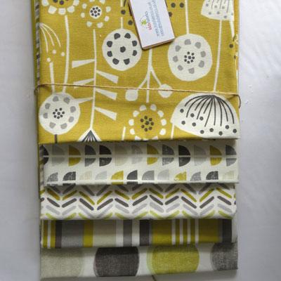 Grey & Ochre Fabric Bundle - £18.50 ITEM PRICE