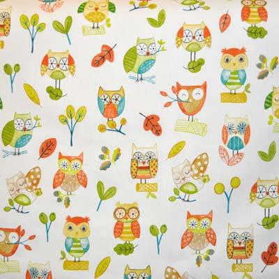 Ollie Owl - Marmalade - £11.50 per metre