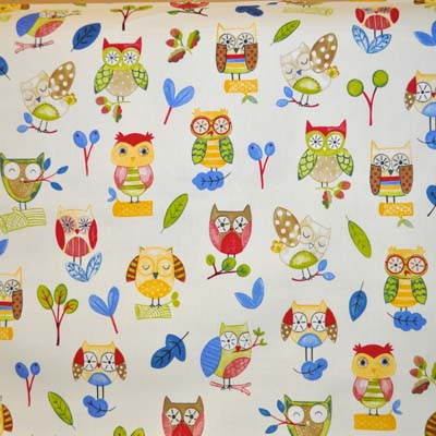 Ollie Owl - Paintbox - £11.50 per metre