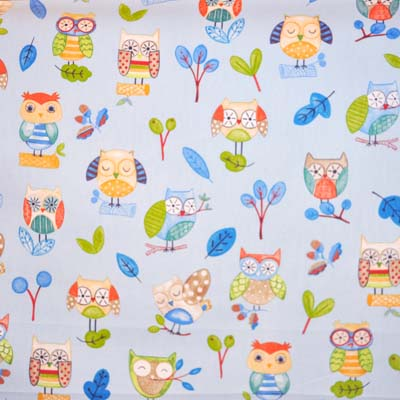 Ollie Owl - Watercolour - £11.95 per metre