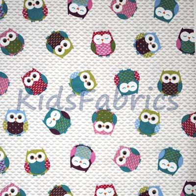 Owls - Multi - £13.00 Per Metre