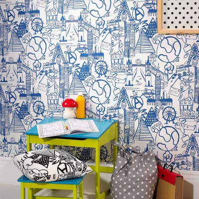 WALLPAPER: Panorama - Cobalt - £23.95 per roll