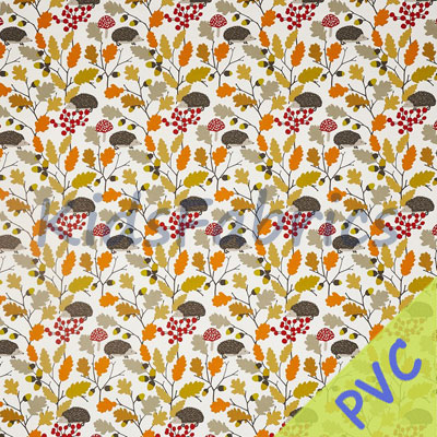 Prickly - Autumn [PVC] - £14.95 per metre