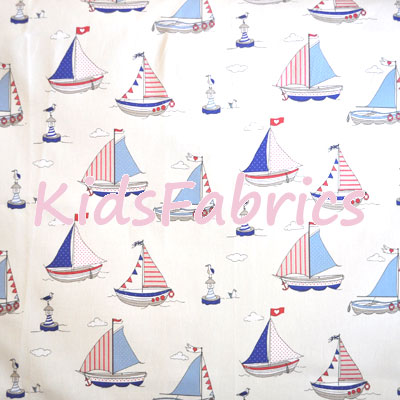 Regatta Sailing Boats - Blue - £11.95 per metre
