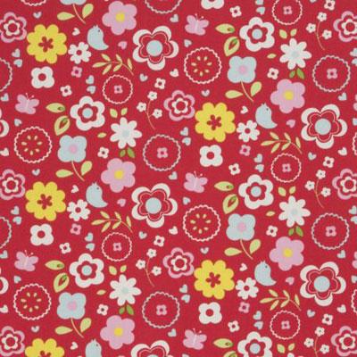 Retro Floral - Multi - £7.95 per metre