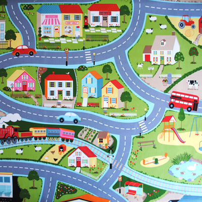 Road Map - Multi - £11.95 Per metre