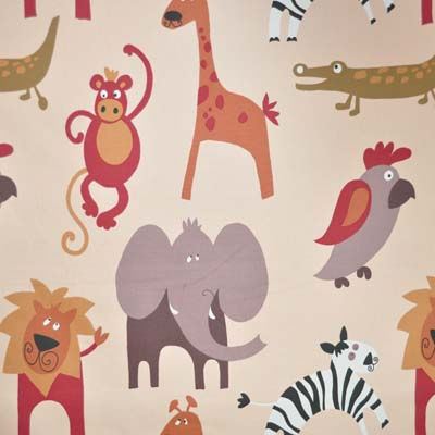 roar natural per metre from kids fabrics online shop