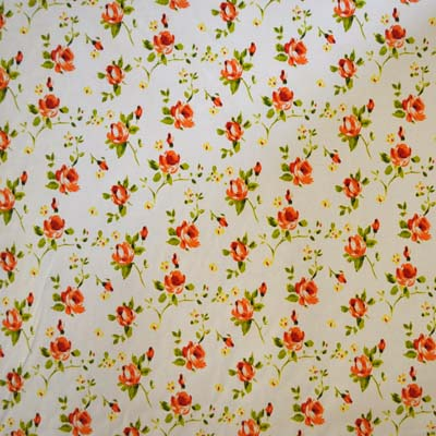 Remnant 1028: Rosebud - Orange [1.0 metre] - £7.50 ITEM PRICE