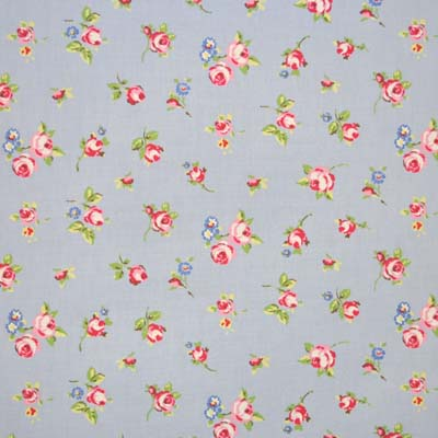 Rosebud - Powder Blue - £10.50 per metre