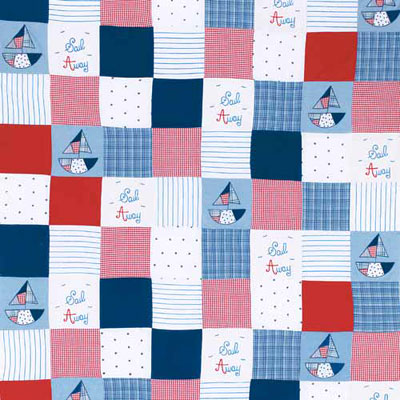 Remnant 1004: Sail - Patchwork  [0.75 metre] - £14.90 ITEM PRICE