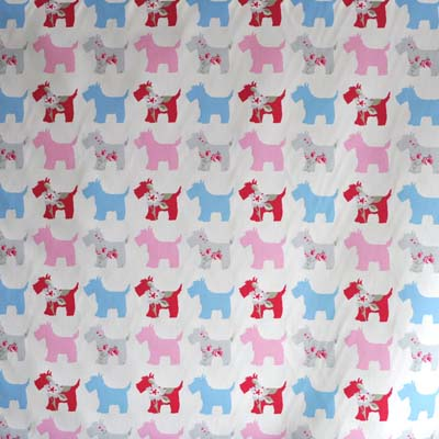 Scottie Dog - Pink - £10.50 per metre