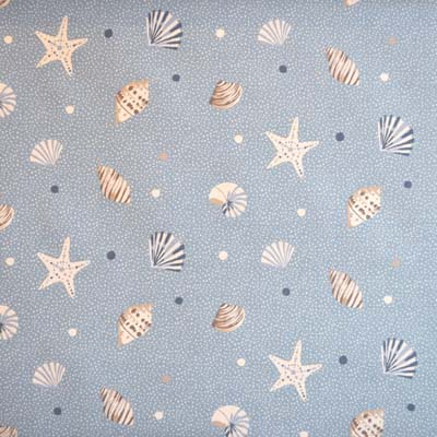 Sea Shells - Marine - £13.95 per metre