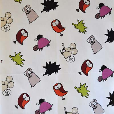 Animal fabrics kids curtain fabric for curtains blinds and for Childrens animal fabric