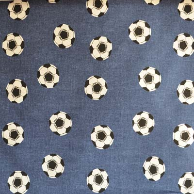 Spot the Ball - Denim - £9.75 per metre