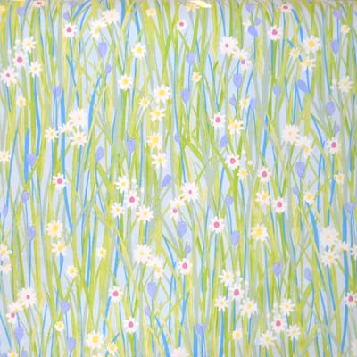 1560: Spring Daisy - Sky [1.7 Mtr Roll End] - £15.00 ITEM PRICE