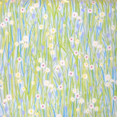 Spring Daisy - Sky - £11.95 per metre