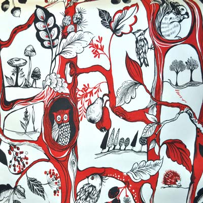 Squirrels - Poppy - £12.50 per metre