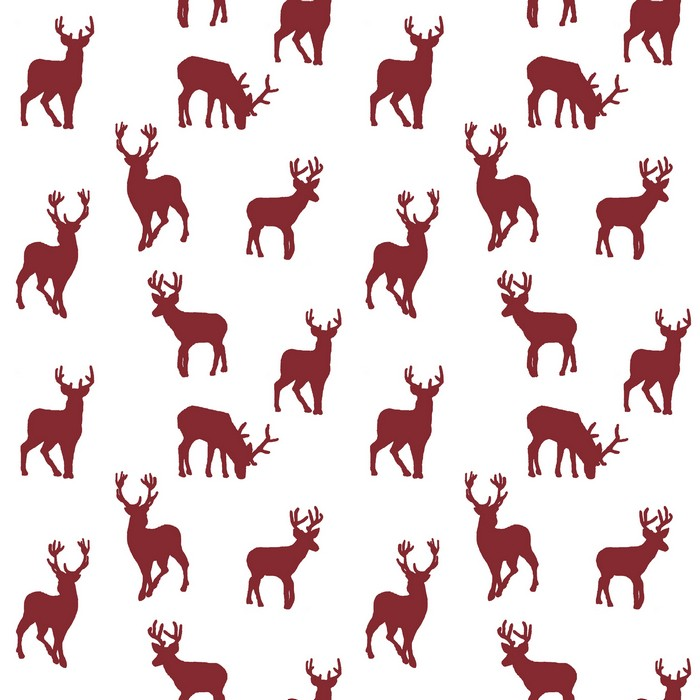 Stag - Red - £12.95 per metre