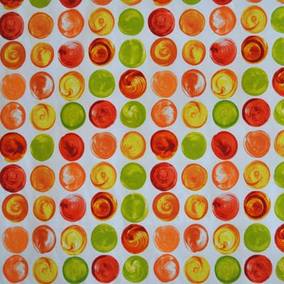 Remnant 1221: Swirl Orange [1.00 metre] - £7.00 Item price