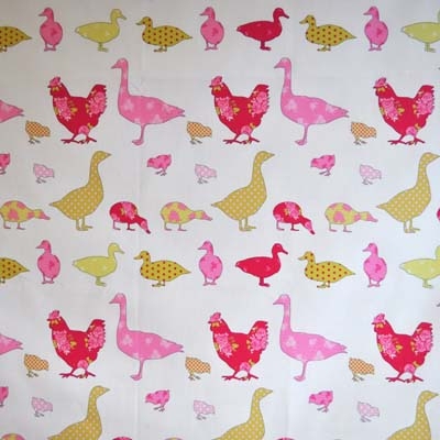 1630: Ducks - Pink [1.8 Mtr Roll End] - £13.50 ITEM PRICE