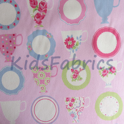 1629: Teatime - Pink [0.50 Mtr Roll End] - £3.50 ITEM PRICE