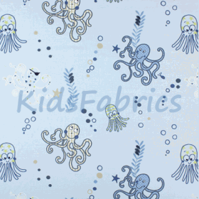Octopus - Denim - £ 45.50 Per Metre