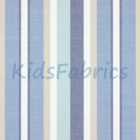 Skipper Stripe - Denim - £ 26.50 Per Metre