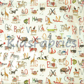 Animal Alphabet - Fudge - £ 15.50 per metre
