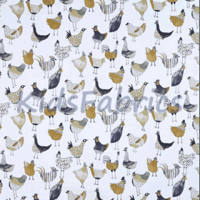 Harriet Hen - Graphite - £ 11.95 per metre