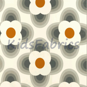 Striped Petal - Orange - £ 18.00 Per Metre