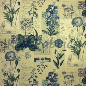 Remnant 1275: Wildflower - Denim [1.20 metre] - £ 10.50 ITEM PRICE