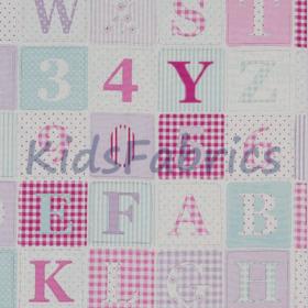 ABC - Pink - £ 11.95 Per metre