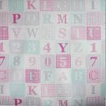 ABC - Pink - £ 10.50 Per metre