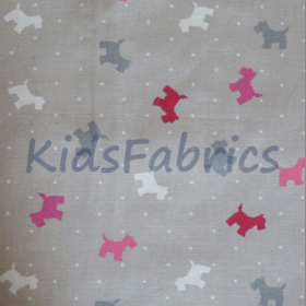 Alfie Dog - Raspberry - £ 13.95 per metre
