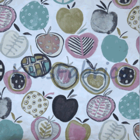 Apples - Marshmallow - £ 11.95 per metre