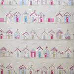 Beach Huts Stripe-Pink - £ 10.50 per metre