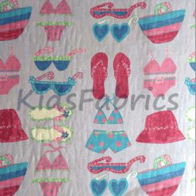 Remnant 1271: Bikinis - Lilac [1.00 metre] - £ 4.25 Item price