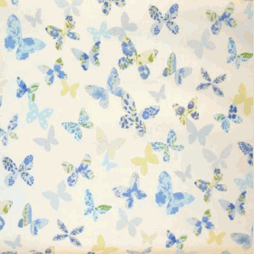 Remnant 1082: Butterfly - Cornflower [0.65 metre] - £ 5.30 Item price