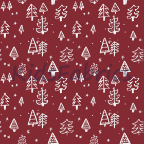 Christmas Tree - Red - £ 12.95 per metre