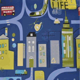 City Life - Denim - £ 10.95 per metre