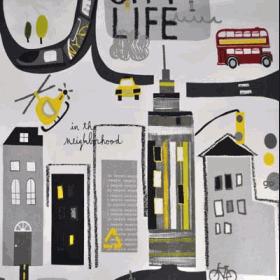 City Life - Graphite - £ 11.50 per metre