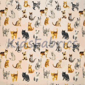 Remnant 1267: Cool Cats - Rose [1.20 metre] - £ 10.50 Item price